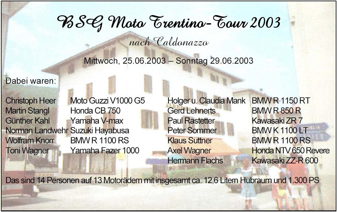 Trentino 2003