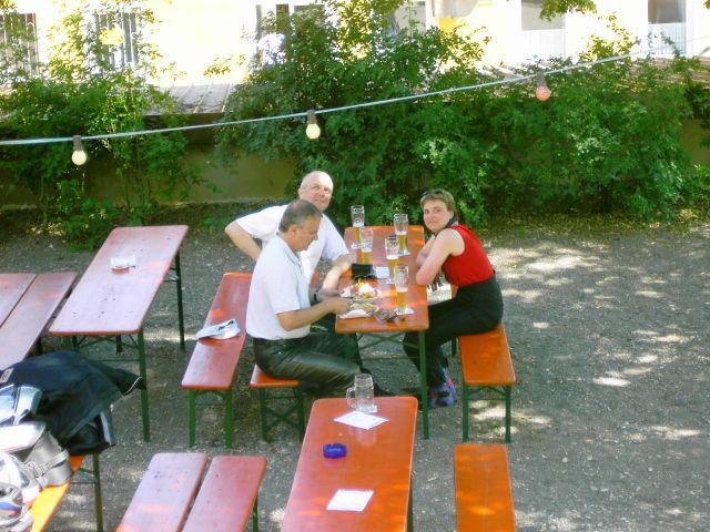 Biergarten unterhalb Burg Pappenheim