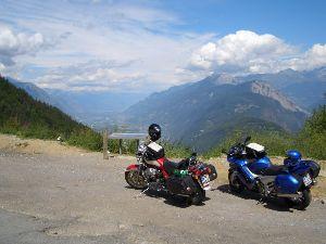 Am Col de Forclaz mit Blick ins Rhonetal