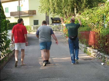 Auf dem Weg ins Albergo